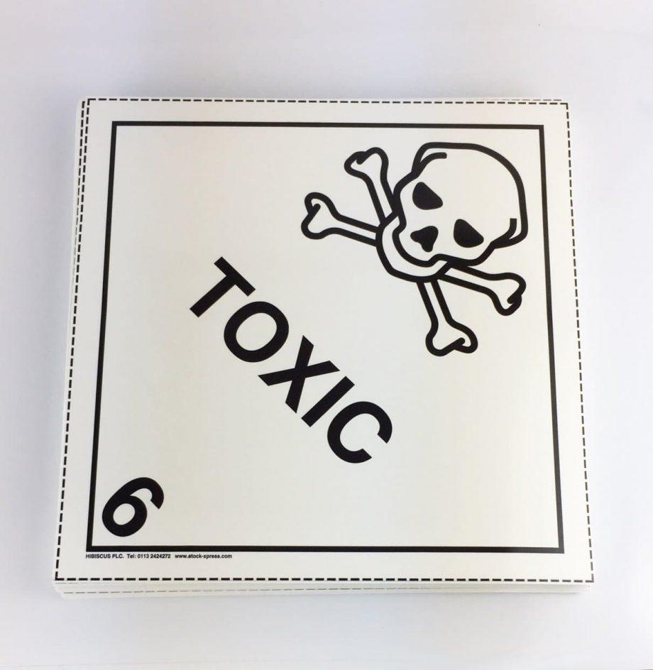 toxic placard, class 6 placard, class 6.1 placard