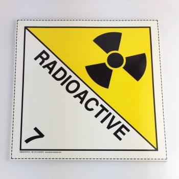 radioactive placard, class 7 placard