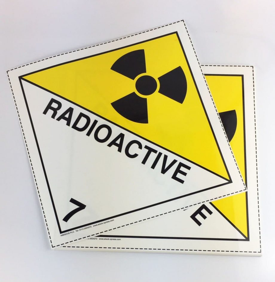 radioactive placards, class 7 placards