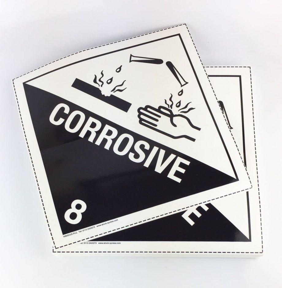class 8 corrosive placards, class 8 placards