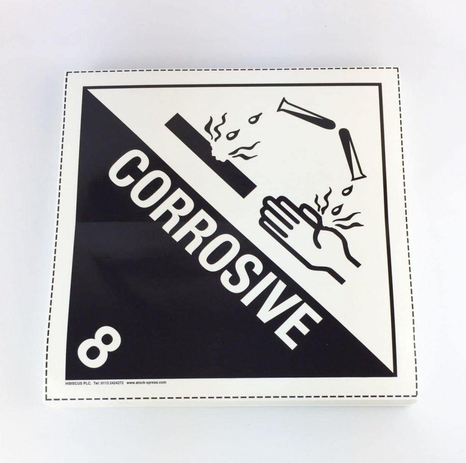 class 8 corrosive placard, class 8 placard