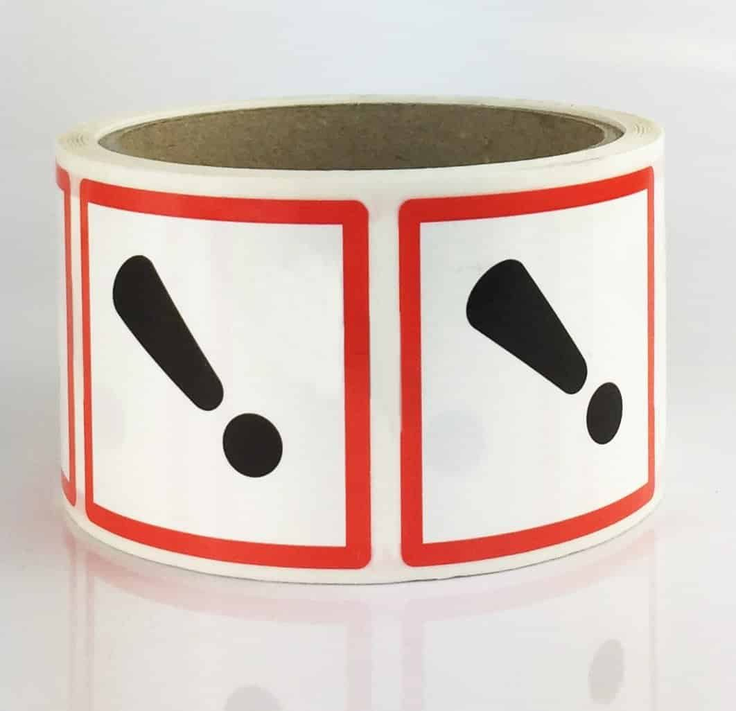 ghs07 exclamation mark labels