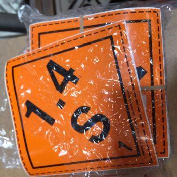 class 1.4s explosive labels