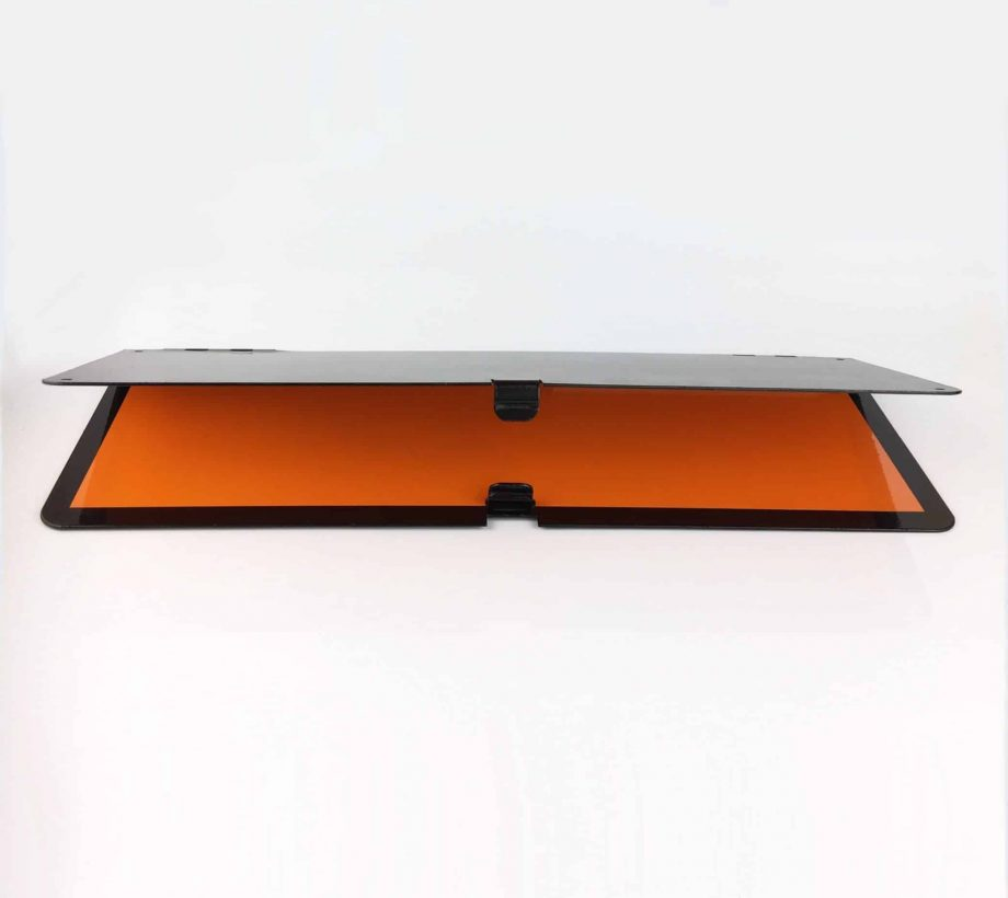 horizontally folding adr plate