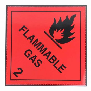 class 2.1 flammable gas label on magnetic