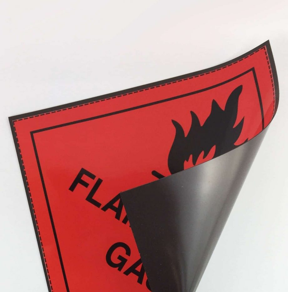 class 2.1 flammable gas labels magnetic