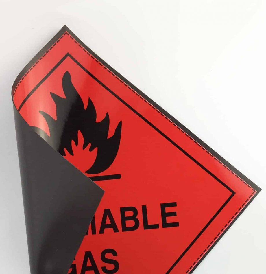class 2.1 labels flammable gas labels on magnetic