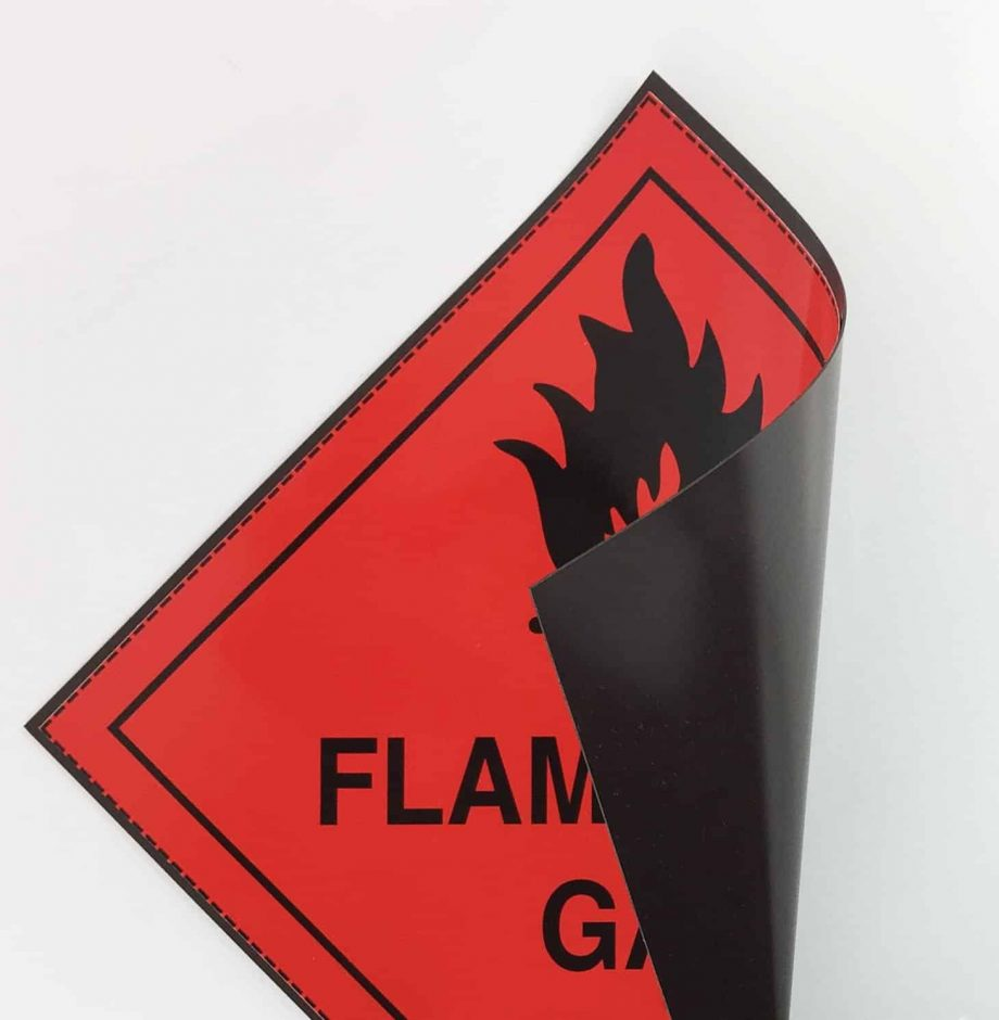 class 2.1 label flammable gas label on magnetic