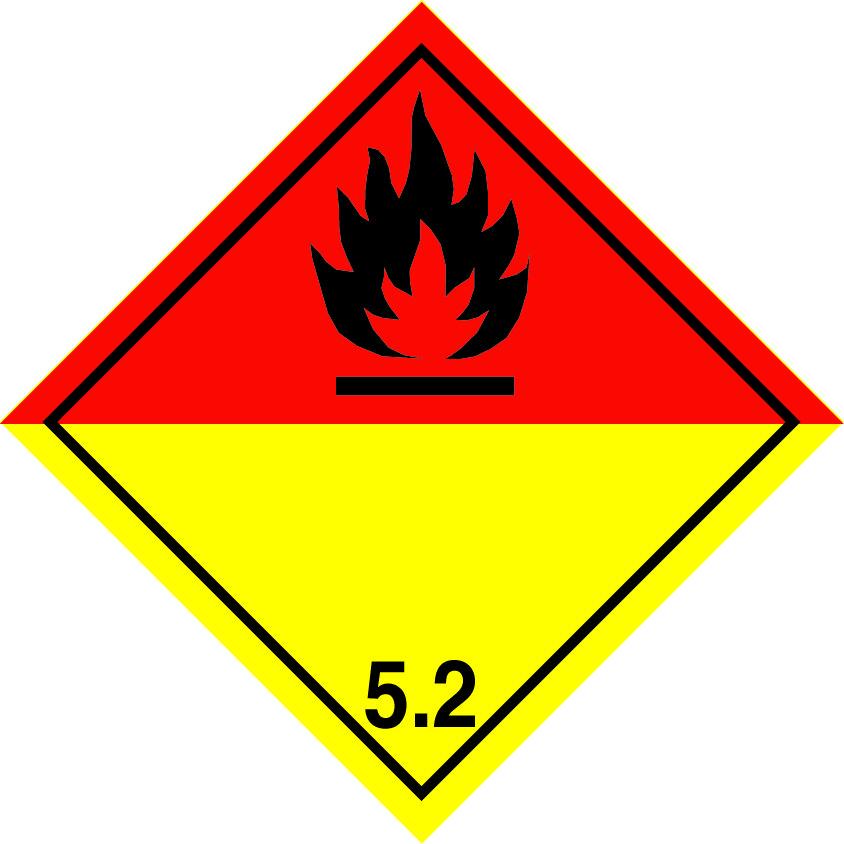organic peroxide label, organic peroxide labels