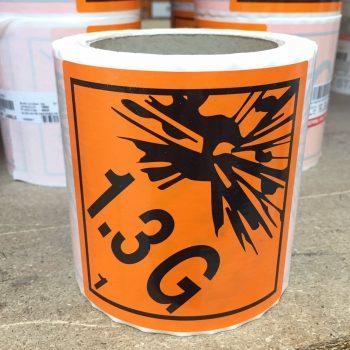 explosive labels 1.3G
