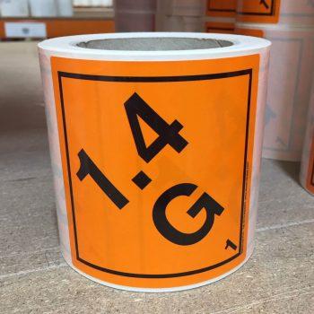 explosive labels 1.4G