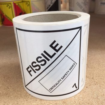 fissile label, fissile labels