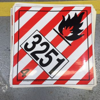 class 4.1 placard un3251 flammable liquid placard