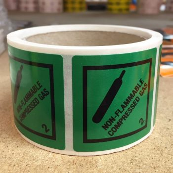 non flammable compressed class 2labels