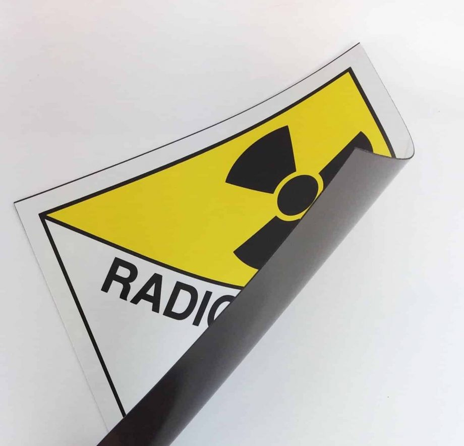 class 7 placard, radioactive placard on magnetic rubber