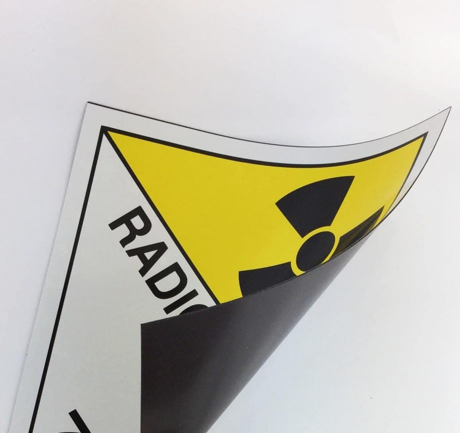 class 7 placards, radioactive placards on magnetic rubber