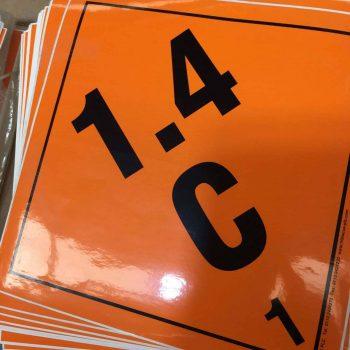 1.4C labels explosive label