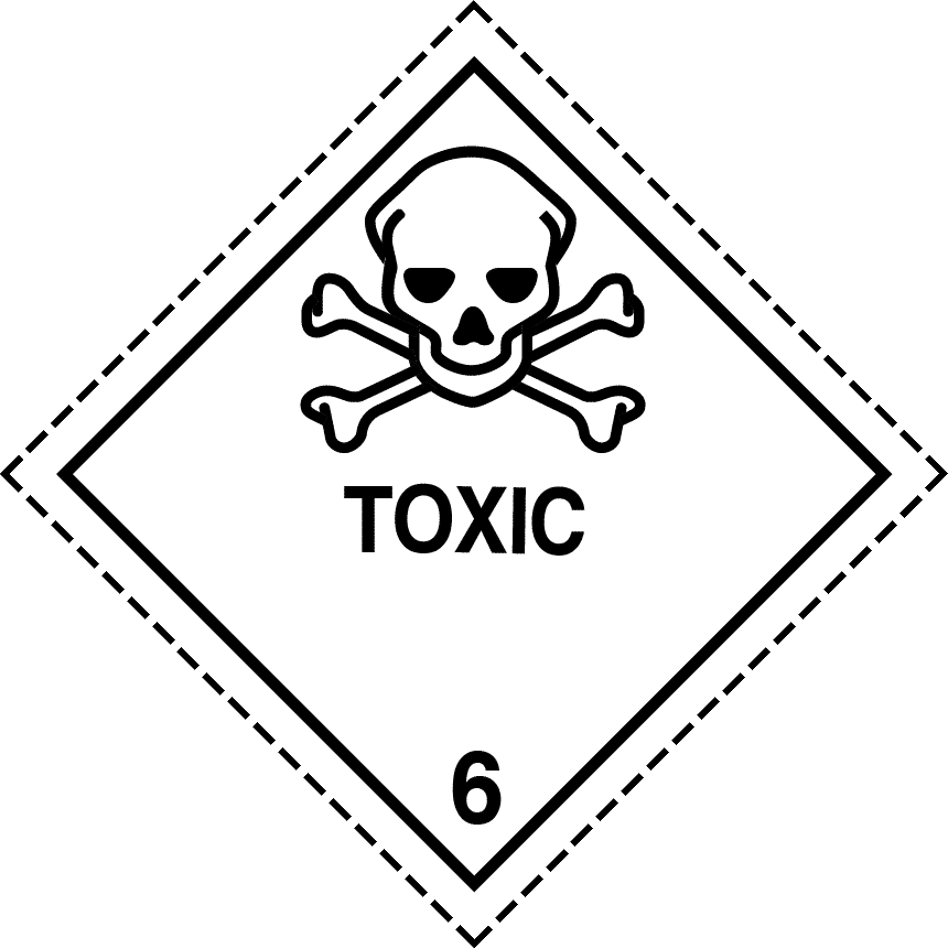 toxic label, class 6 label, class 6 placard, toxic labels