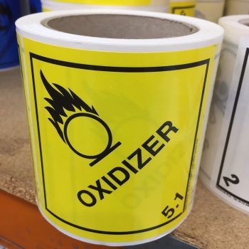 oxidiser label, oxidiser labels