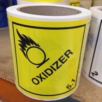 oxidiser label, oxidiser labels