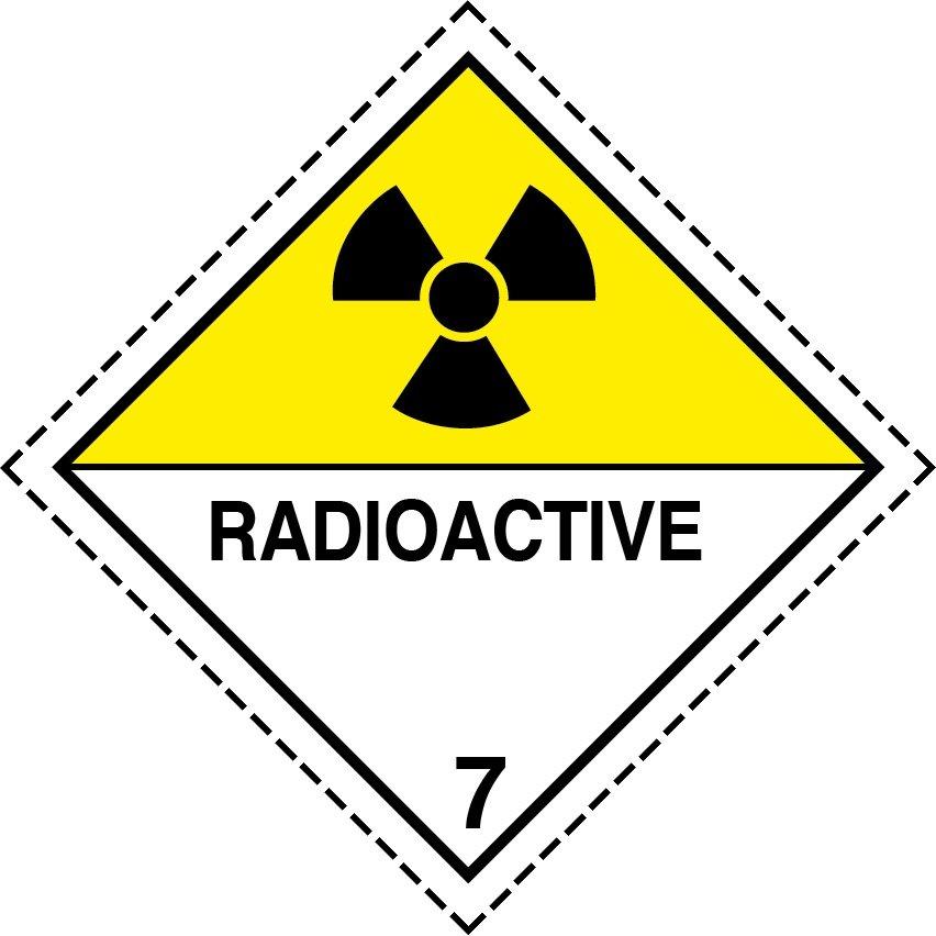 radioactive placard, radioactive placards