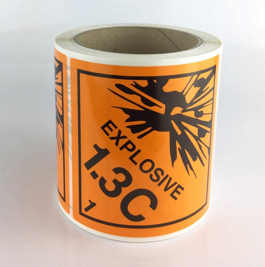 Explosive class 1.3C labels