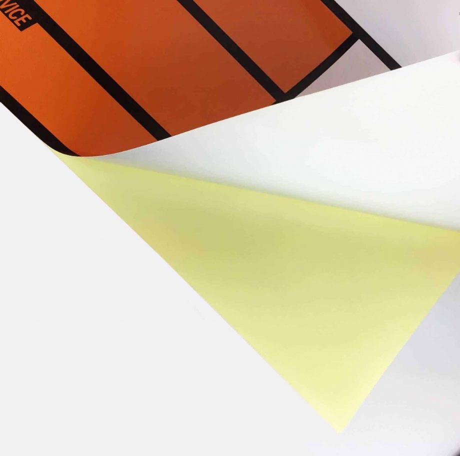 hazchem panel on reflective vinyl